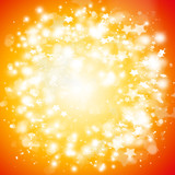 Beautiful stars bokeh background with copyspace