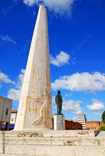 Italy, the Baracca monument in the city of Lugo.
