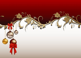 beauty christmas card background with floral concept