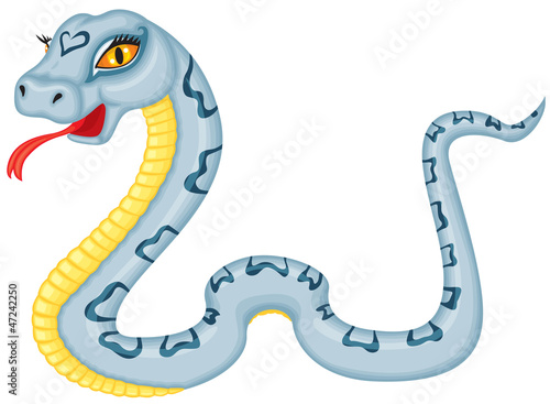 Cartoon serpent