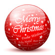Sphere, Glass, Merry Christmas, Red, Greeting Cards, Ball, 3D
