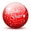Kugel, Glaskugel, Alles Gute, Weihnachten, Sterne, Rot, Ball, 3D