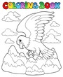 Coloring book bird image 2