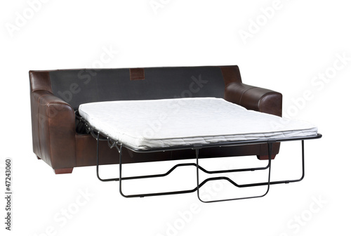 Nice design of the of fold-able sofa bed on white