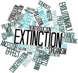 Word cloud for Extinction poster