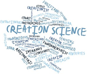 Word cloud for Creation science