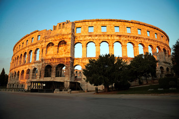 Ancient Roman Amphitheater. Pula, Croatia