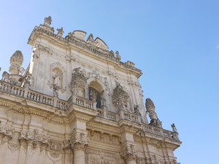 Church of St John the Baptist at Rosario in Lecce in Italy
