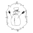 cute illustrated snowman