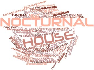 Word cloud for Nocturnal house