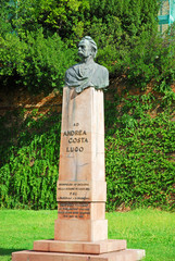 Italy, Andrea Costa statue in the city of Lugo.