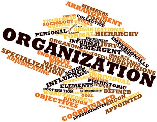 Word cloud for Organization