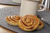 Swedish cinnamon rolls or kanelbullar
