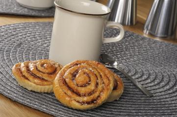 Swedish cinnamon rolls or kanelbullar