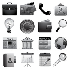 Detailed business icons