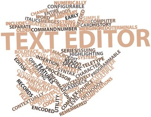 Word cloud for Text editor