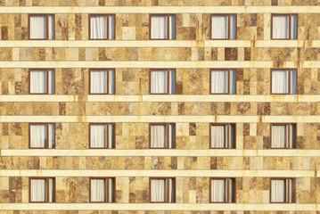 fachada con ventanas simetricas