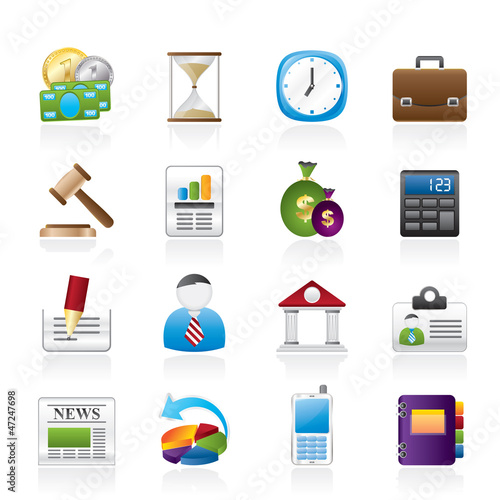 Business, Office and Finance Icons - Vector Icon Set