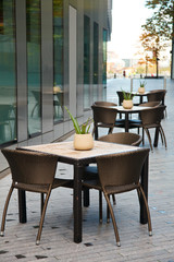 Street cafe in London