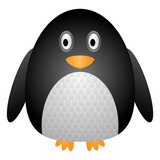 Cartoon penguin icon. Antarctic bird. Vector. Isolated