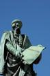 Alsace, the statue of Gutenberg in Strasbourg