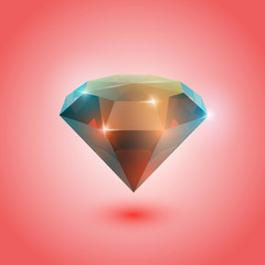 A beautiful opal gem on a gradient background