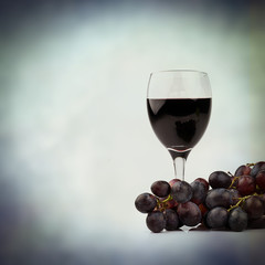 red wine red grapes