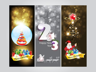 abstract christmas Banner & new year banner