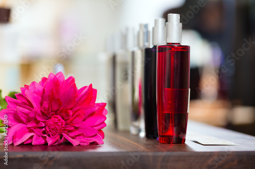 Perfume in drugstore or shop