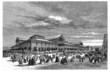 Paris : ancient Market - 19th century - Les Halles