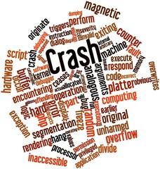 Word cloud for Crash