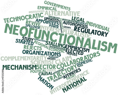 Word cloud for Neofunctionalism