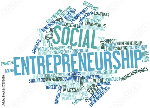 Word cloud for Social entrepreneurship