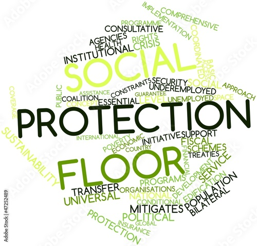 Word cloud for Social protection floor