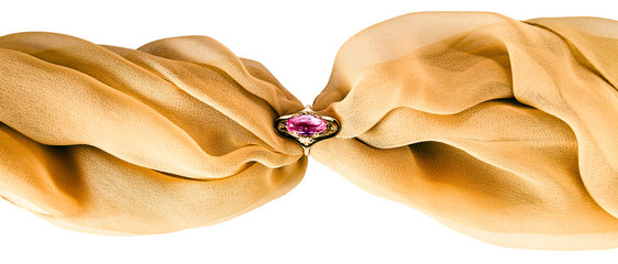 Gold ring with amethyst,saved clipping path