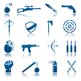 Weapon icon set