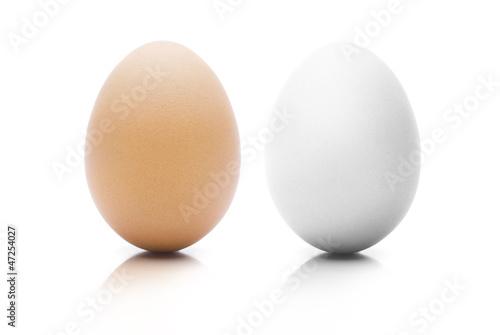 Braunes und Weißes Ei