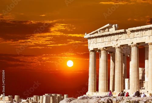 Foto op Aluminium Oude gebouw Parthenon temple on the Athenian Acropolis, Greece