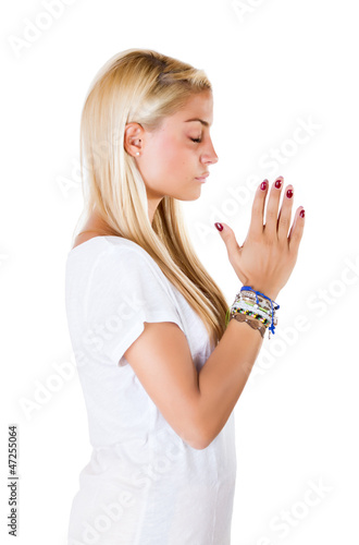 woman pray his god