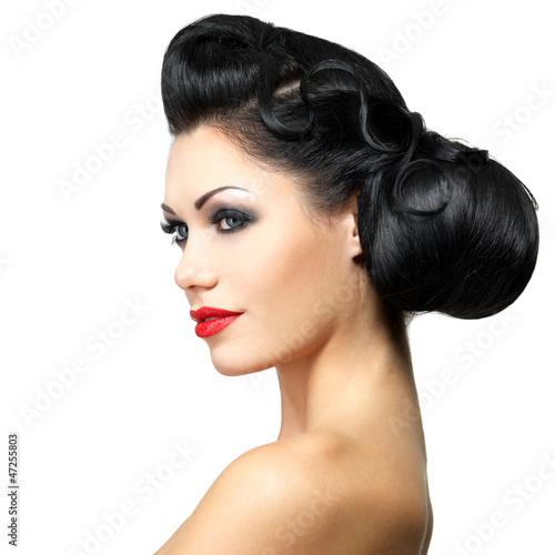 Fashion woman with beauty hairstyle