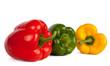 Roter, gelber und grüner Paprika II