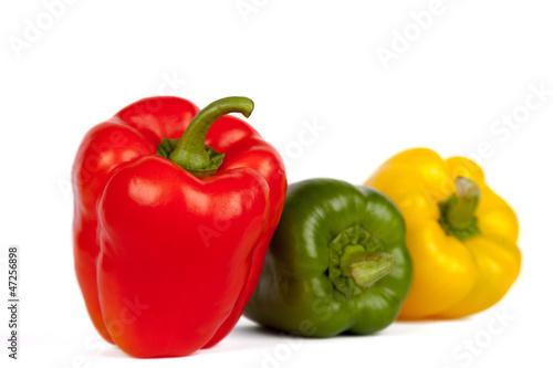 Roter, gelber und grüner Paprika III