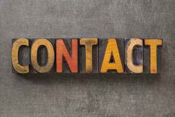 contact word in wood type