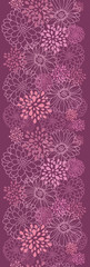 Vector purple field flowers elegant vertical seamless ornament