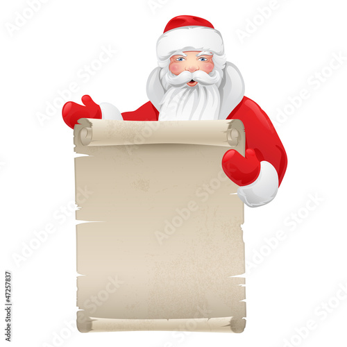 Santa claus with the manuscript