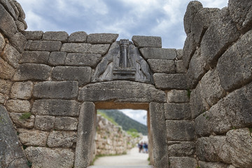 The Lion gate in Mycenae,Greece