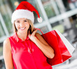Female Santa shopping