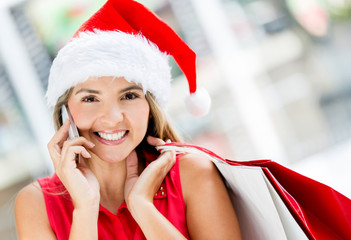 Female shopper on Christmas