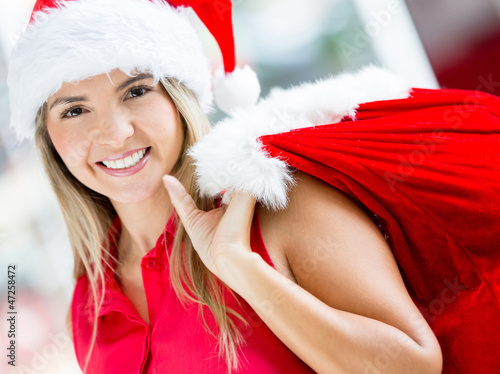 Happy female Santa