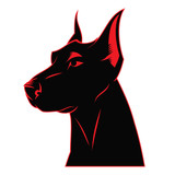 Dog doberman label